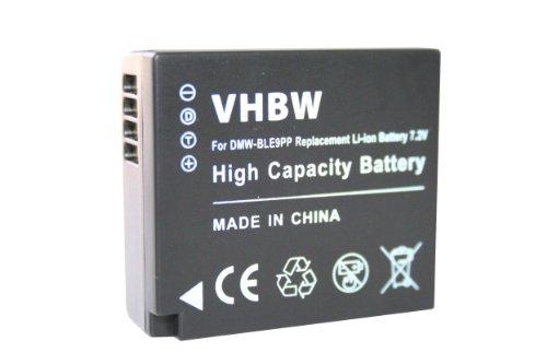 vhbw Akku 750mAh für Kamera Panasonic Lumix DMC-GF3, DMC-GF3CK, DMC-GF3CR, DMC-GF3CT wie DMW-BLE9, DMW-BLE9E, DMW-BLG10, DMW-BLG10E (Lumix Gf3 Kamera Tasche)
