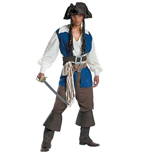 Imagen de disfraz de pirata hombre cosplay halloween carnaval talla l