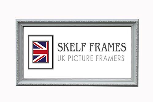 Skelf Frames Kunstvoller weiß Panorama Bild/Foto Rahmen mit Glas (50,8x 17,8cm)