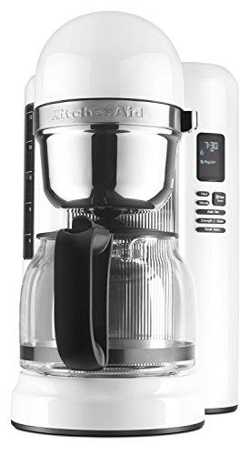 Kitchenaid Kaffeemaschine (KitchenAid KCM1204WH Kaffeemaschine (Unabhängig, Filtermaschine, Mahlwerk, Schwarz, Edelstahl))