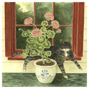 Spring's day cat paper napkins by Alice's Cottage