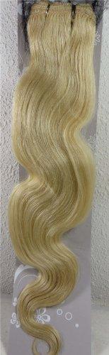 45,7 cm Blond Blanc (# 60) trames de cheveux vierges brésiliens Remy ondulés – Tissage 100% Cheveux Humains vierges brut