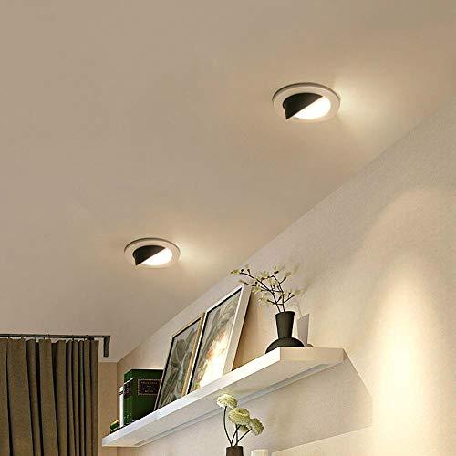 BFMBCHDJ Downlight de la mazorca Panel LED Downlight empotrado Ronda Dormitorio Cocina Interior Spotlight...