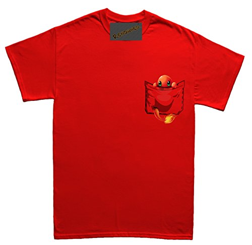 Renowned Fire Monster in my pocket Unisex - Kinder T Shirt Rot