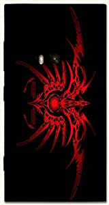 Striking multicolor printed protective REBEL mobile back cover for Nokia Lumia 920 D.No.N-T-1008-N920