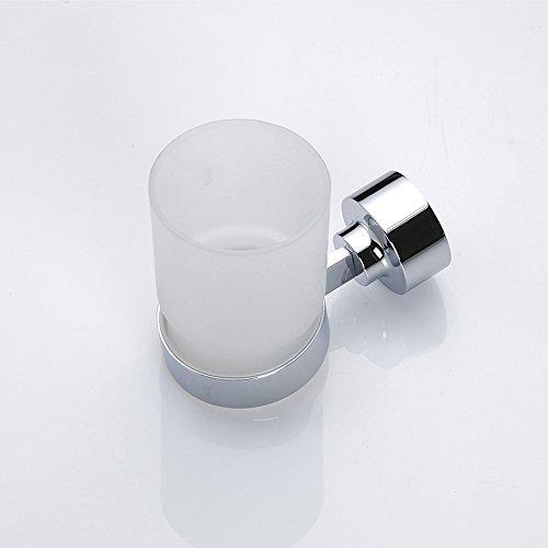 Salle de bain Brosse à dents en cuivre Porte-gobelet Rince-bouche Porte-gobelet Salle de bains murale Brosse à dents en verre Coupe