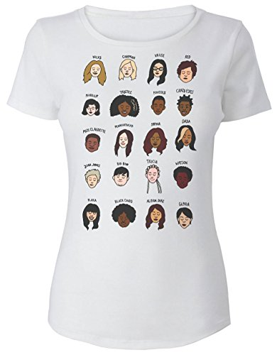 Character Faces Camiseta para Mujer Medium