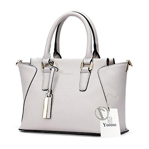 Borse Yoome Wings Top Handle Bags Borse in pelle Borse per Borse Bulk Ladies Portafoglio Casual Borse - Bianco bianca