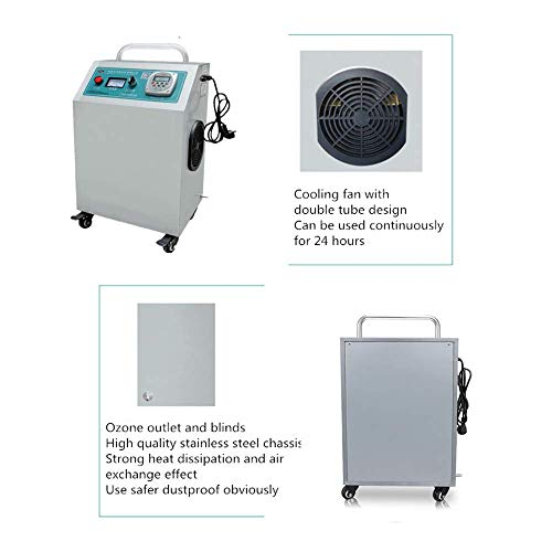 41cgqd6opUL. SS500  - GXHGRASS Commercial Ozone Generator, 15000Mg/ Industrial O3 Air Purifier Deodorizer Sterilizer, Two Kinds of Timers,Light Grey