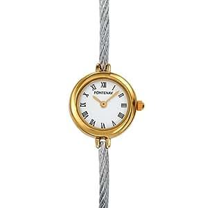 Fontenay - UB1319BE - Montre Femme Cable - Quartz Analogique - Fond Blanc - Bracelet Cable Rigide