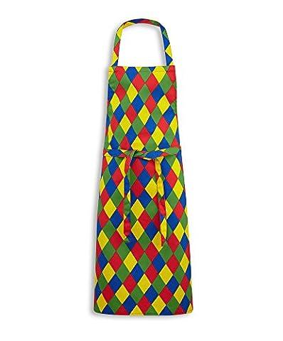 Alexandra STC-W691HQ-R Bib Apron, Stripe, 67% Polyester/33% Cotton, One Size, Harlequin