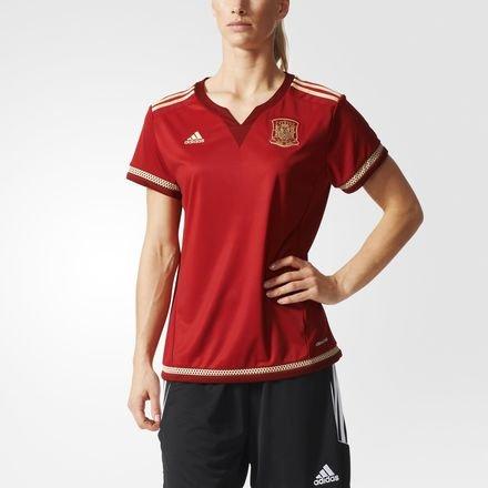 adidas FEF W H JSY WC Damen-T-Shirt, Rot/Weiß / goldfarben, Damen, L