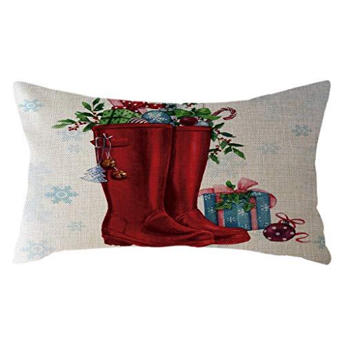 Littay The Best Gift Santa Claus Kissenbezug, Leinen, 30 x 50 cm See Description D - Cup-halskette Tin