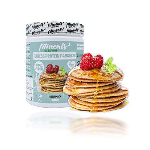 fitmeals Fitness Protein Pancakes Backmischung (1x 330g) Inhalt ca. 15-20 Portionen - Pancake Fertigmischung