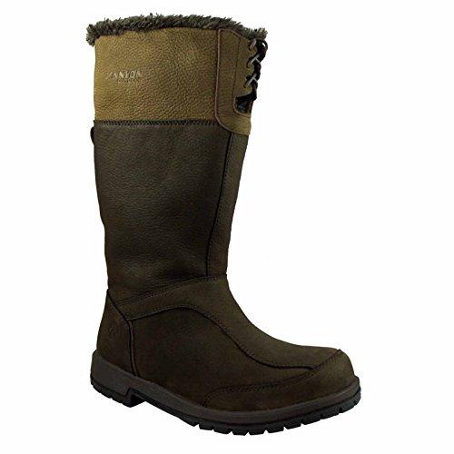 Kanyon Alder Lederstiefel, zum Reiten und für die Landarbeit, 3/4 Höhe, wasserfest, atmungsaktiv, Größen 36–41 Braun - schokoladenbraun