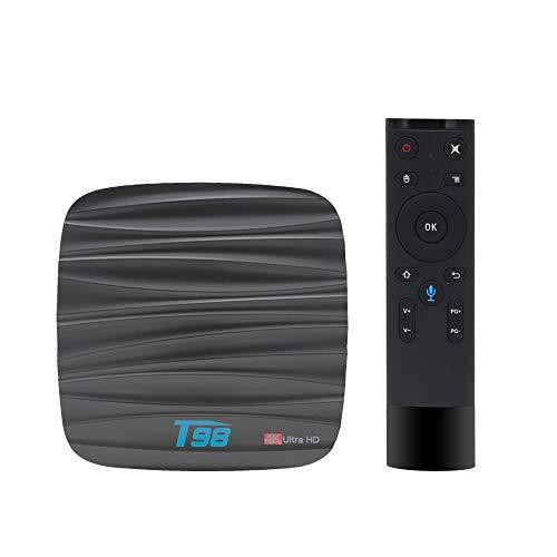 Full HD-TV-Box, Netzwerk-Set-Top-Box Android 8.1 Sprachfernbedienungsbox 2G 16G WiFi, Unterstützung für Online-Video, TV, Filme, Musik, Broadcast -