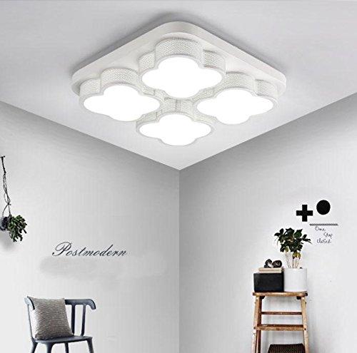 LED Deckenleuchten/Modern Minimalist Eisen Acryl Hängende Deckenleuchte/White Square Cloud 4 Lampe Deckenleuchte/Decke Schlafzimmer Licht/Decke Restaurant/Bright / White Light Fixture, Warmes Licht -