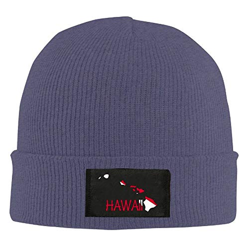 Hawaii Scuba Dive Shirt Scuba Diver Flag Unisex Warm Winter Hat Knit Beanie Skull Cap Cuff Beanie Hat Winter Hats Black -