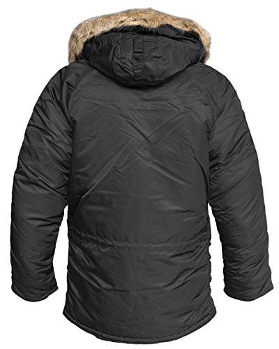 Alpha Industries Winterparka Fliegerparka N3B Schwarz