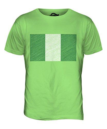 CandyMix Nigeria Kritzelte Flagge Herren T Shirt Limettengrün