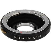 Fotodiox Pro adaptador de montura de lente - Contax/Yashica (C/Y, CY) a Nikon SLR/cámara réflex digital con elementos de cristal para Ford Focus correctora, compatible con Nikon D7100, D7000, D5200, D5100, D3100, D300, D300S, D200, D60, D800, D800e, D4, D3, D2, D1