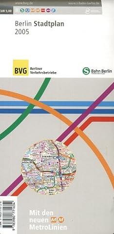 BVG + S-Bahn Berlin Stadtplan