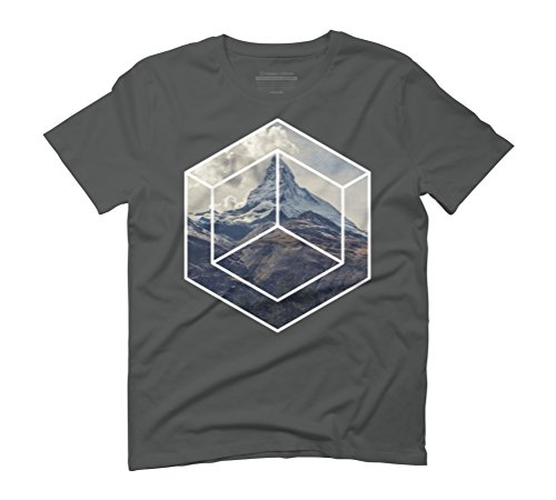 Single mountain Men's Graphic T-Shirt - Design By Humans Anthracite