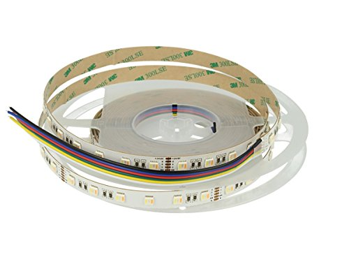 24 V bobine bande LED RGB + CCT 5 couleurs canaux 23 W/m rGB + W + WW 5 mètres