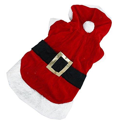 Santa Little Kostüm - PRIMI Kleine Hunde/Welpen Hoodie Hund Santa Weihnachten Kostüm Outfit (M)