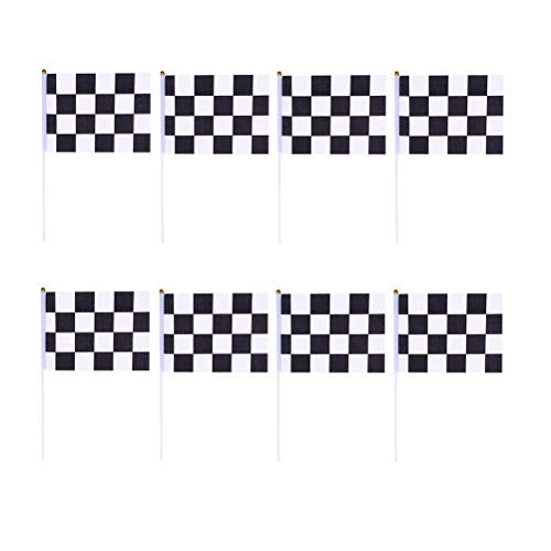 cing Flag 30 Stück Checkered Formel 1 F1 Racing Banner mit Kunststoff-Sticks 8 x 5,5 Zoll Hand Waving Flags für Racing, Race Car Party, Sportveranstaltungen ()
