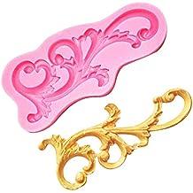 Oyfel decoración de Boda Molde de Silicona Flores y Hojas para Hornear Galletas Hacer Tarta Pastel