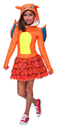 Pokemon Charizard Hoodie Dress Costume Child Small