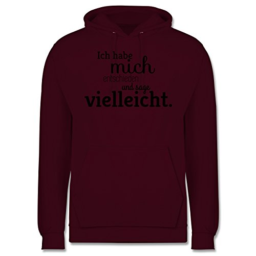 Statement Shirts - Ich habe mich entschieden und sage vielleicht - Männer Premium Kapuzenpullover / Hoodie Burgundrot