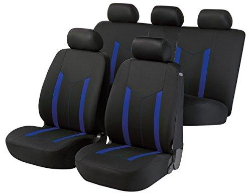 züge für Pickup Version (1987-2007) passend für Sitze mit Airbag, Laterale Armlehne Sitze Rücksitze Sdoppel Farbe Schwarz Blau R19S0593 ()