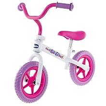 Chicco First Bike Pink Comet Bicicletta Senza Pedali, 2-5 Anni, Rosa/Bianco