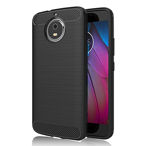 GeeRic Motorola Moto G5S Plus Hülle, [Carbon Fiber Series] Flexibles TPU Anti-Scratch Super Weiche Schutzhülle,Premium Silikon TPU Schale, perfekten Schutz Case Cover für Motorola Moto G5S Plus 5.5""