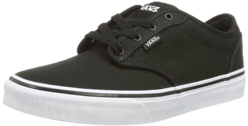 Vans Atwood Unisex-Kinder Sneakers, Schwarz ((Canvas)Blk/Wht 187), 38 EU (Canvas-sneakers Blk)