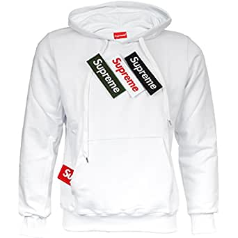 supreme sweat shirt capuche homme blanc x small. Black Bedroom Furniture Sets. Home Design Ideas