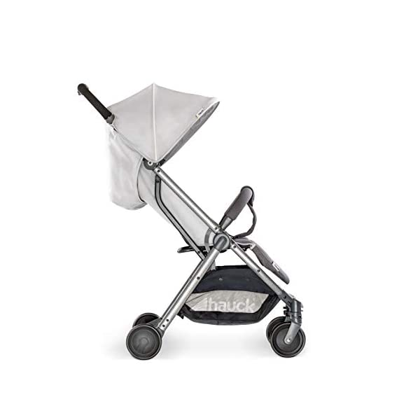 Hauck Swift Plus, Compact Pushchair with Lying Position, Extra Small Folding, One Hand Fold, Lightweight, Carrying Strap, from Birth Up To 15 kg, Lunar Hauck Our smallest comfort stroller Extra small and fast folding with one hand Extremely light - easy to carry over the shoulder 17