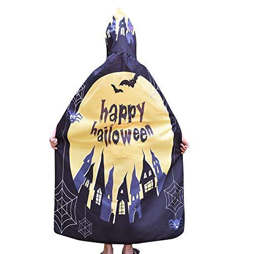 (Yesmile Kinder Halloween Kleidung Kinder Halloween Flügel Poncho Schal Kostüm Zubehörteil Robe Halloween Kostüm-A)