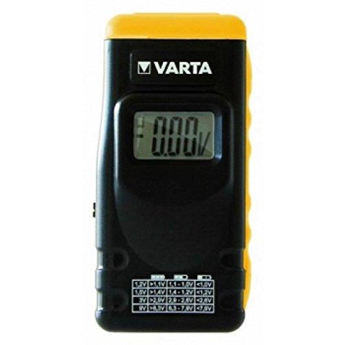 Varta Batterietester 00891 mit LCD-Display für Batterien, Akkus und Knopfzellen