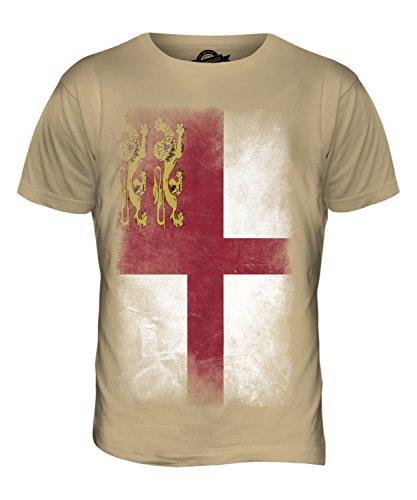 CandyMix Sark Verblichen Flagge Herren T Shirt Sand