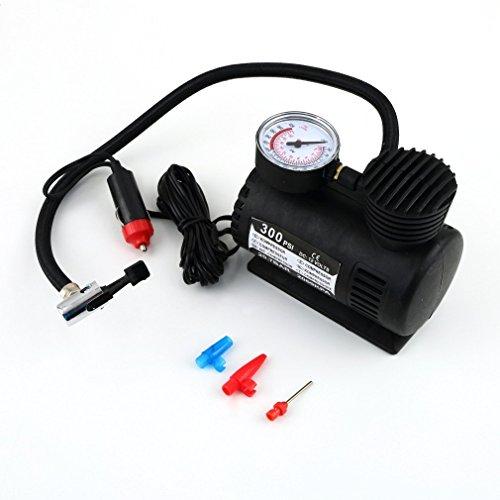 Qulable Elektrischer Auto-Luftkompressor, tragbar, 12 V, Schwarz