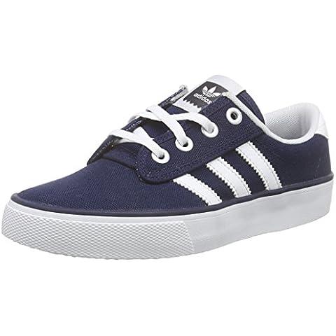 adidas Kiel - Zapatillas para hombre, color azul marino / blanco, talla 35