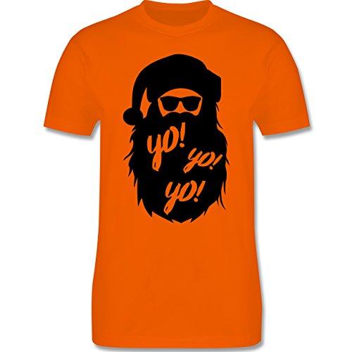 en & Silvester - Yo Santa - XL - Orange - L190 - Herren T-Shirt Rundhals (Santa-mützen)