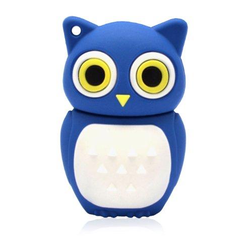 818-TEch No16500010008 Hi-Speed 2.0 USB-Stick 8GB Eule Vogel Uhu 3D blau