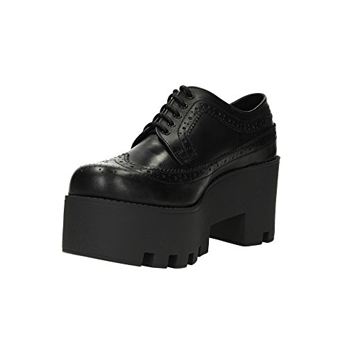 Windsor Smith Foxy, Scarpe Stringate Basse Brogue Donna Nero (Black Leather)