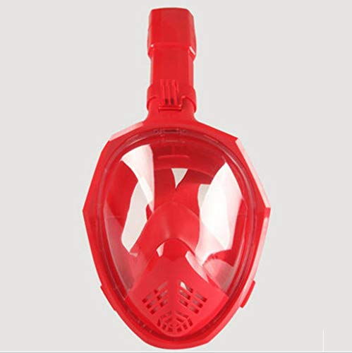 Masque de plongée Masque de plongée avec Masque de plongée pour Adulte équipement de plongée pour Adultes Grand Champ de Vue Masque pour la plongée au Tuba (Couleur : Rouge, Taille : L/XL)