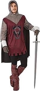 Rubies - Disfraz de caballero medieval, para hombre, talla única (S8236)