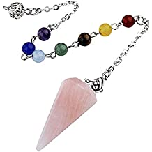 TOOGOO Aura Punto de exploracion metafisica Colgante de adivinacion espiritu Pulseras Chakra Cristal Tratamiento: Purpura
